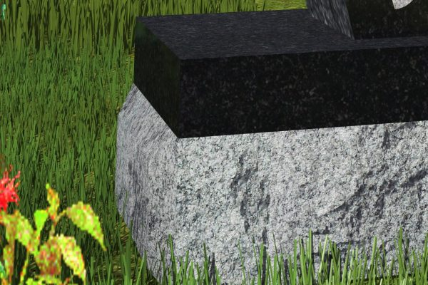 A two-inch thick all polished piece of granite that typically matches the monument colour sits on top of the base. (Patterson p. 37)
