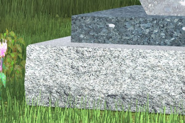 Usually four inches thick, the plinth is recessed a few inches from the base to add depth to the monument. (Powell p. 54)