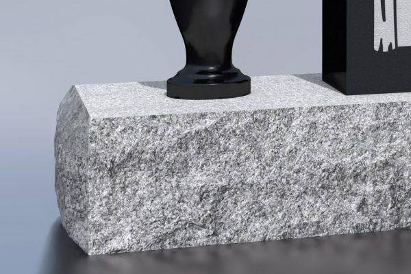 Silver mist with rock edges and sawn smooth top (McMulkin p. 27)